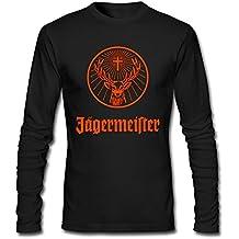 TLMKKI Men's Jagermeister Logo Long Sleeve T-shirt