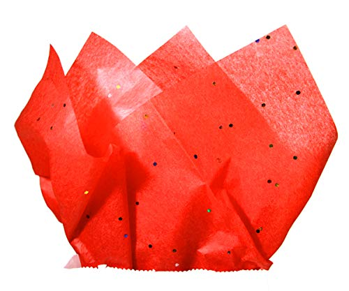 - 30-Sheet Christmas Tissue Paper (Sparkle Red)