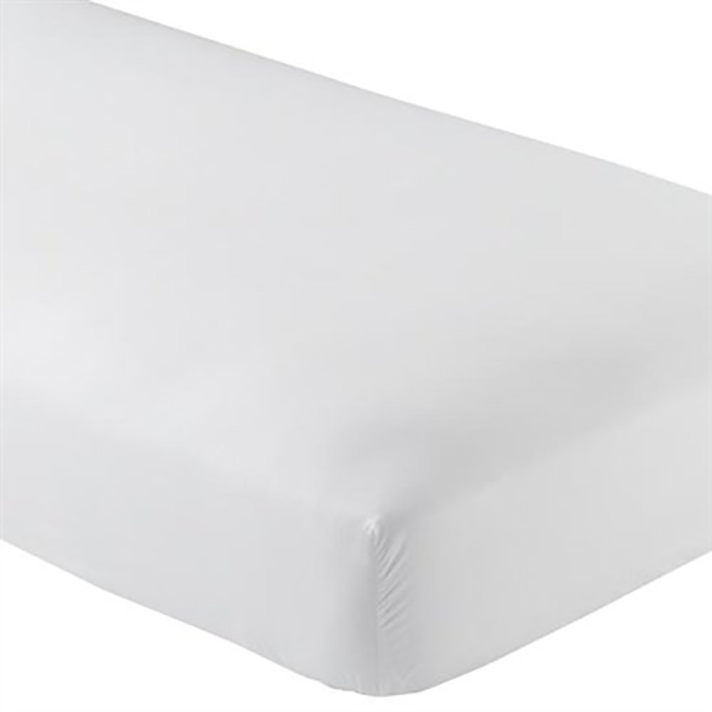 Twin Extra Long Fitted Sheet Only - Soft & Comfy 100% Cotton- By Crescent Bedding (Twin XL, White)