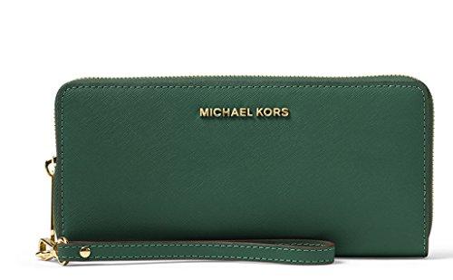 MICHAEL Michael Kors Jet Set Travel Continental Wallet (Moss)