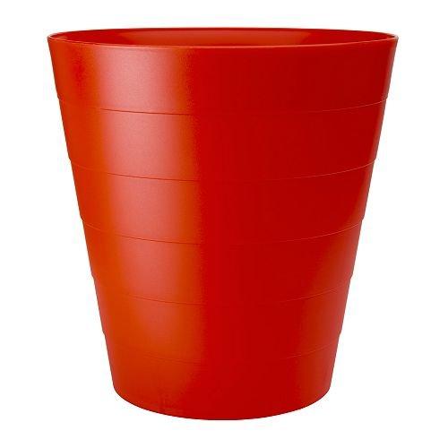 Amazonde Ikea Papierkorb Fniss Mülleimer Aus Polypropylen Rot