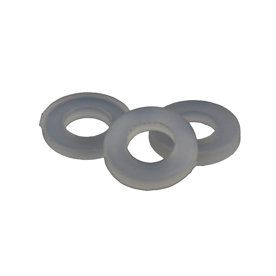 M3X7X1 ID 1//8 inches OD 17//64 inches 100PCS Nylon Flat Washer Plain Washer Grommets Plastic Sheet Gasket Fastener
