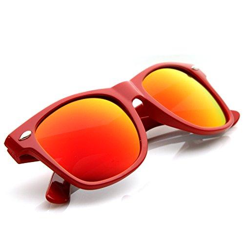 zeroUV® - Colorful Mirrored Lens Retro Wayfarer Sunglasses by zeroUV