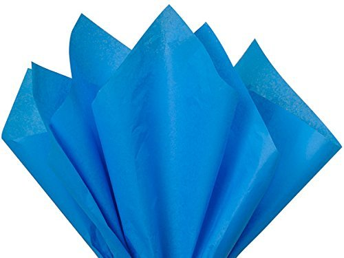 (ShipGuard Gift Wrap Tissue Paper for Wrapping, Packing, Birthday Party, Festival, DIY Art Crafts and Pom Pom Making | Brilliant Blue | 15 x 20 100 Sheets)