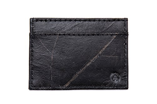 Leaf Leather Slim Wallet - Minimalist Handmade Card and Cash Holder - Brown