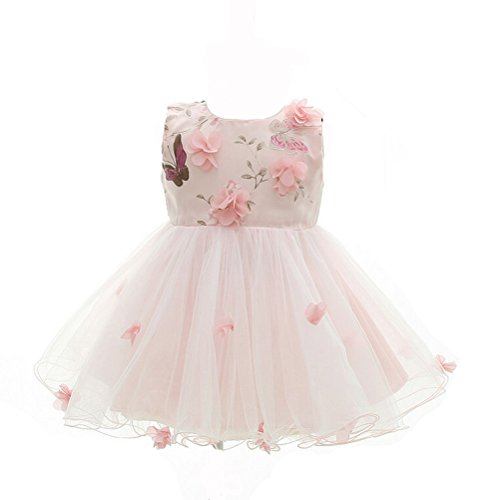 Baby Girls Princess Pink Dress With Belt - 8