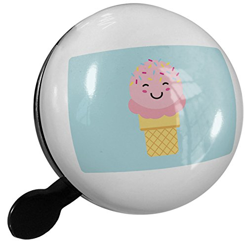 Small Bike Bell Strawberry Ice Cream with Sprinkles Cute, Japanese Kawaii Food with Face - NEONBLOND by NEONBLOND