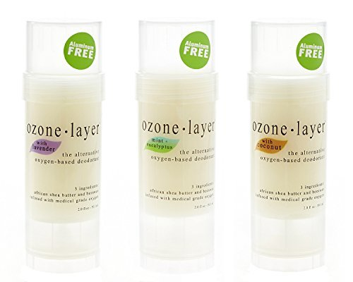 Price comparison product image Ozone Layer Deodorant - The All Natural Oxygen Based Deodorant (Top Seller 3-pack)