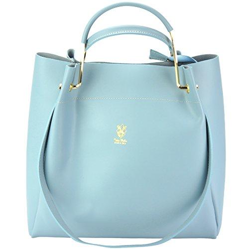 Eleonora Shoulder Top Handle handbags for Women Genuine Italian Soft Leather Tote Purse