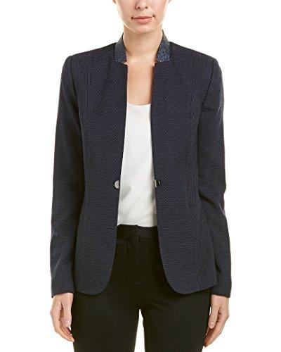 T Tahari Women's Nishi Novelty Suiting Blazer, Navy, 4