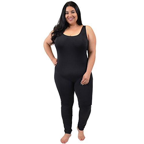 Stretch is Comfort Women's Plus Size Nylon Unitards Black X-Large