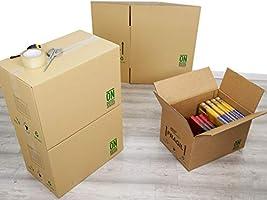 Pack 20 Cajas Carton Mudanza Grandes 430x300x250 - Cajas Carton ...