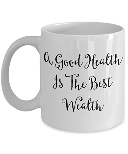Acupuncture Coffee Mug, Best Funny Unique Chiropractic Tea Cup Perfect Gift Idea For Men Women - A Good health is the best -
