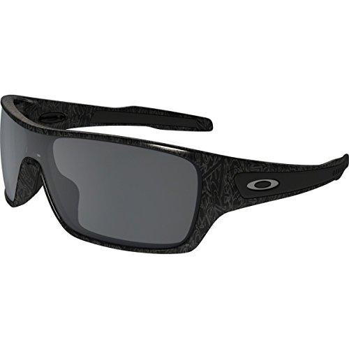 Oakley Men's Turbine Rotor Non-Polarized Iridium Rectangular Sunglasses, Ghost Text w/Black Iridium, 132 - Text Sunglasses