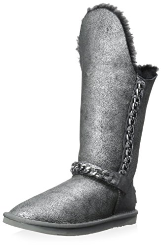 Black Women's Boot Silver Australia Luxe Crackle Maverick Collective qnUpxzxHY