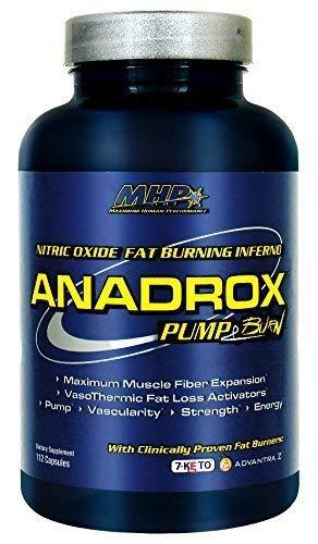 MHP Anadrox Pump & Burn, Nitric Oxide Fat Burning Inferno, 112 capsules by Maximum Human Performance