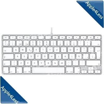 Apple Keyboard - Spanish - Teclado (USB, QWERTY, Color Blanco ...