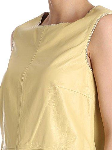 Ottod'ame Vestito Donna PELDA31771536 Pelle Giallo