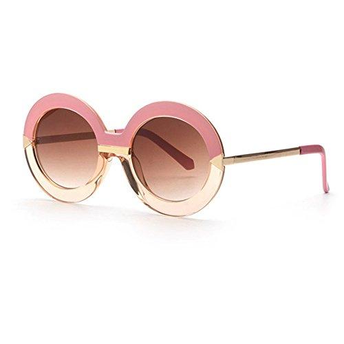 Round Frame Ladies Sunglasses Oversize Fashion Vintage Style Sunglasses - Sunglasses Oversized Oval