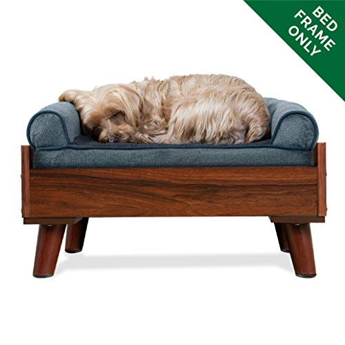 FurHaven Pet Bed Frame | Bed Frame for Pet Beds & Mattresses, Walnut, Small Bamboo Dog Cat Bed