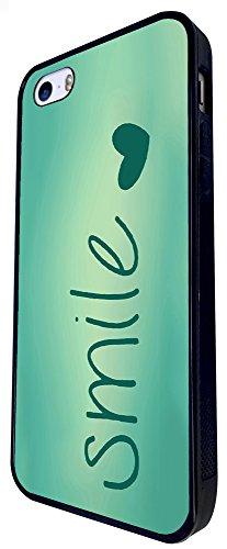 595 - Shabby Chic Smile Fun Design iphone SE - 2016 Coque Fashion Trend Case Coque Protection Cover plastique et métal - Noir