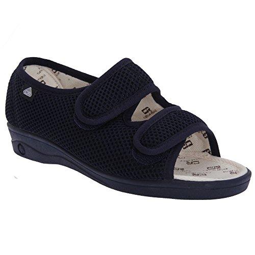 Celia Ruiz Womens/Ladies Touch Fastening X Wide Dual Fitting Sandals Navy Blue BwHEXNpF