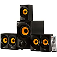 Acoustic Audio AA5170 5.1-Channel Home Theater Speaker with Wireless Subwoofer & Bluetooth (Gold)