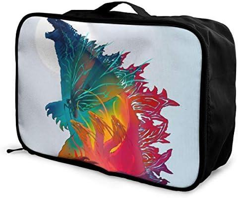 トラベルポーチ アレンジケース Godzilla ゴジラ 旅行収納バッグ 衣類収納バッグ 収納専用ポーチ 手提げ 短期出張 多機能 ファスナー 収納便利グッズ 軽量 大容量 便利 ビジネス 海外旅行 整理用