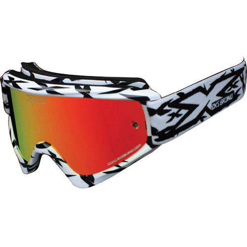 EKS Brand Scatter X Adult Dirt Bike Motorcycle Goggles Eyewear - White / One Size Fits - All Eyewear Brands