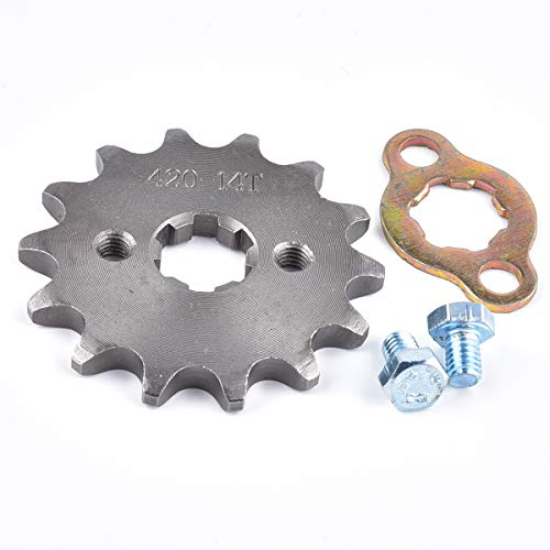 420 14T 17mm Front Engine Sprocket For 50cc 70cc 110cc 125cc 140cc 160cc ATV Dirt Bike Quad TaoTao Roketa Sunl