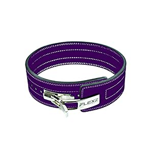 Lever Buckle Powerlifting Belt 10mm Weight Lifting Violet Medium
