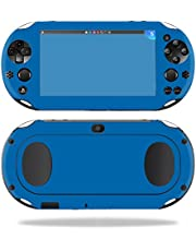 MightySkins Skin Compatible with Sony PS Vita (Wi-Fi 2nd Gen) wrap Cover Sticker Skins Solid Blue