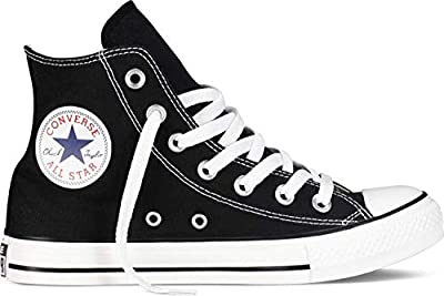 Converse Unisex Chuck Taylor All Star High Top Sneakers (14 M US, Black)
