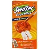 Swiffer Carpet Flick Refill, One 12 ct box (Carpet Flick)