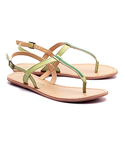b81d02b53 Naughty Walk Ladies Leather Ankle Strap Fashion Stylish Sandals Lime ...