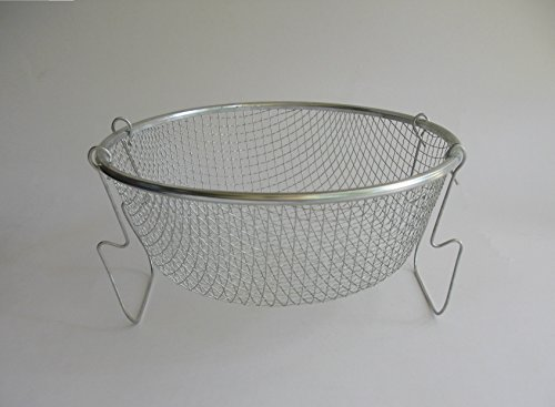 22cm Deep Frying Basket Net Grid - Stainless Frier Strainer, Chips/Pakora Maker