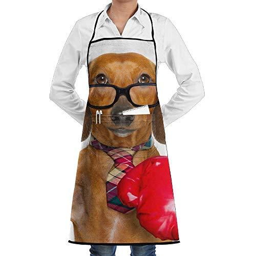 54732735bfedb Big Red Gloves Businessman Men & Women Bib Chef Kitchen Apron with Pockets