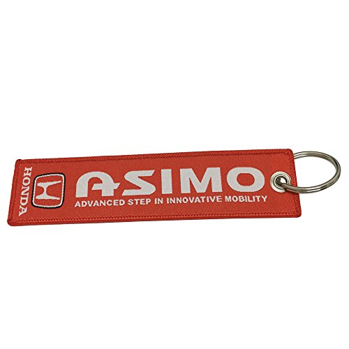 Coloryard 1pcs Red Color USA SHIP Unique Special Both Side Embroidered Key Chain Tag Keytags Superbike Motorcycle Scooters Racing Biker, House Keys, Cars, Gift For Fast Racing Lover Design Asimo