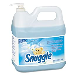 Snuggle Liquid Fabric Softener, Blue Sparkle, Floral Scent, 2 gal, Bottle - two bottles of fabric softener.