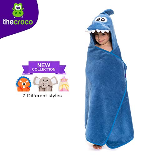 TheCroco Premium Hooded Towel: Ultra Soft, 100% Cotton, Super Absorbent, Thick, and Exceptionally Large. (Kids Bath Towels Hooded)