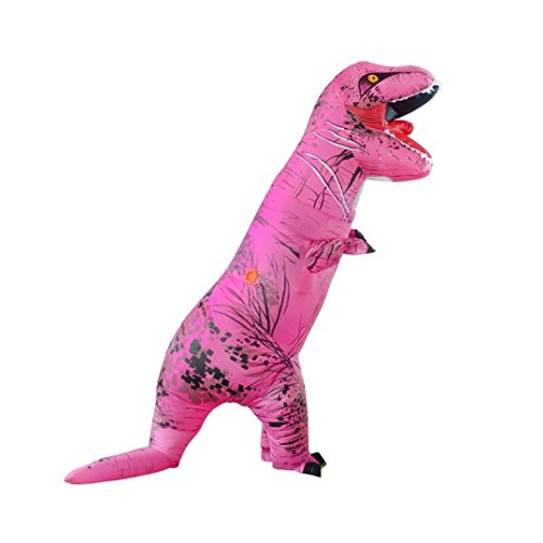 [Han Shi Adult Costume Dinosaur Costume ADULT SIZE Trick Playmate Make-Up Dress-Up (Hot Pink)] (Lucille Ball Costumes For Halloween)