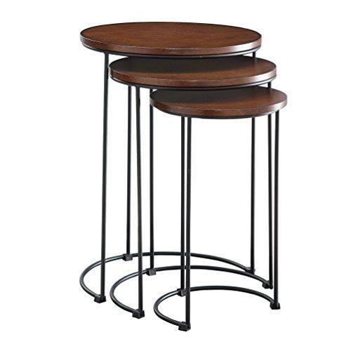 Carolina Cottage 3-Pc Round Nesting Table Set