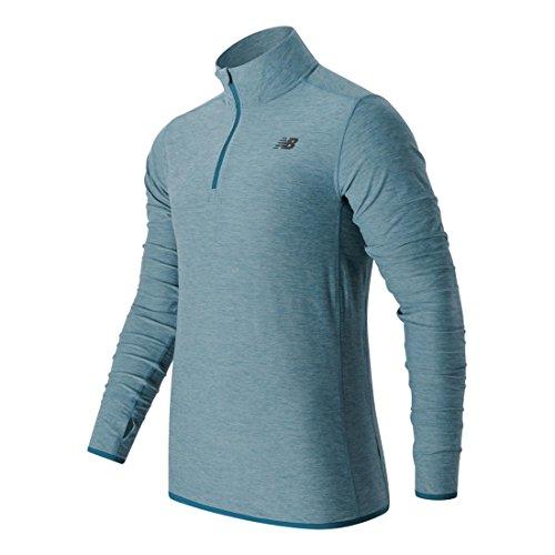 New Balance para hombre camiseta de manga larga funcional MT53030 Riptide Heather