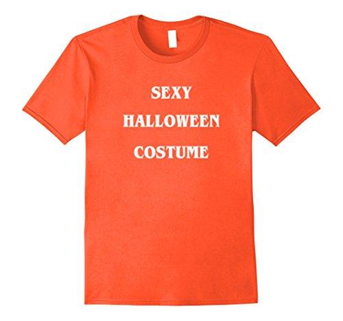 Sexy Halloween Party Ideas (Mens Sexy Halloween Costume Shirt, Novelty XL Orange)