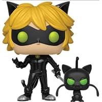 Funko, Cat Noir con Plagg Miraculous Pop Figura de Colección