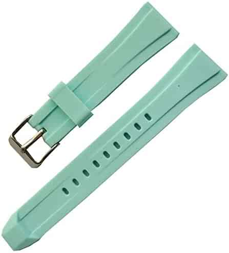 a6e45735e93 New Unisex Silicone Rubber Watch Straps Bands Waterproof 20mm Color Straps ( blue)