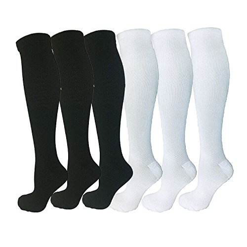 Pairs Upgraded Graduated Compression Socks