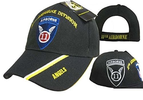 Ant Enterprises U.S. Army 11th Airborne Division Angels Black Shadow Embroidered Cap Hat 11th Airborne Division
