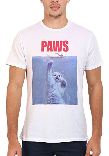 Paws Cat Kitten Meow Parody Men Women Unisex Top T Shirt