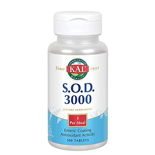 S.O.D. 3000   Superoxide Dismutase and Catalase   Antioxidant Activity   Enteric Coated for Maximum Assimilation   Lab Verified   100 Tablets